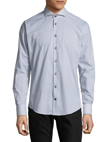 Bugatti Cotton Sport Shirt-WHITE-Medium