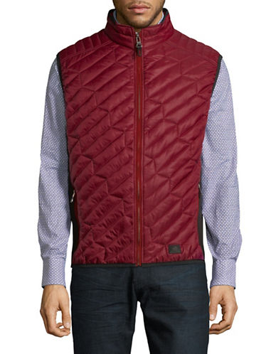 Bugatti Diagonal Quilted Vest-RED-Large