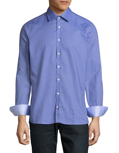 Pure Long Sleeve Slim-Fit Shirt-BLUE-Medium