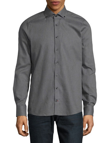 Pure Slim Fit Micro Dot Sport Shirt-GREY-X-Large