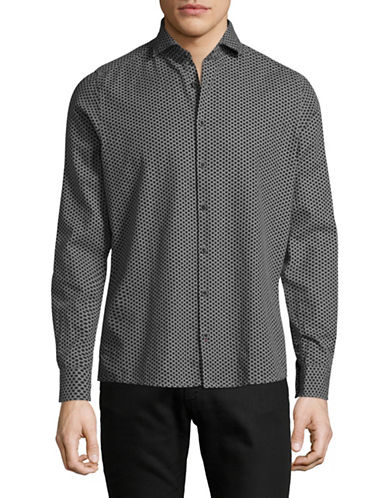 Pure Birdseye Cotton Sport Shirt-GREY-X-Large