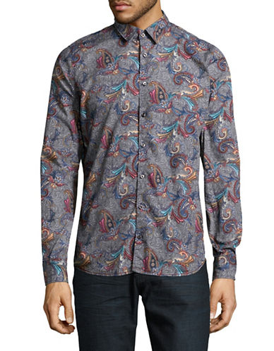 Pure Paisley Print Sport Shirt-MULTI-COLOURED-Small