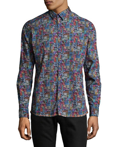 Pure Paisley Print Sport Shirt-MULTI-Large