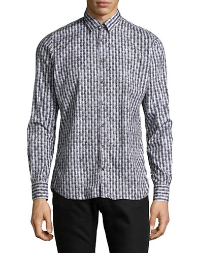Pure Paisley Print Sport Shirt-GREY-X-Large