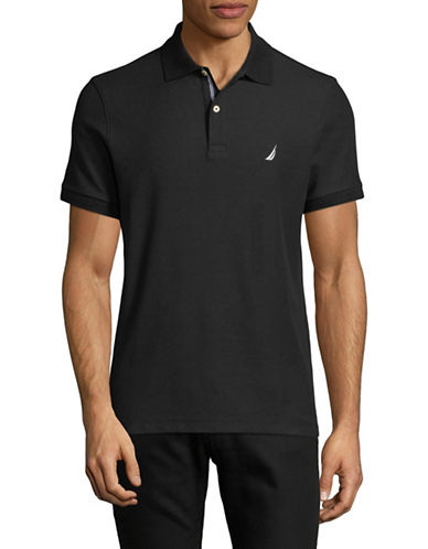 Nautica Slim-Fit Short-Sleeve Polo-BLACK-Large