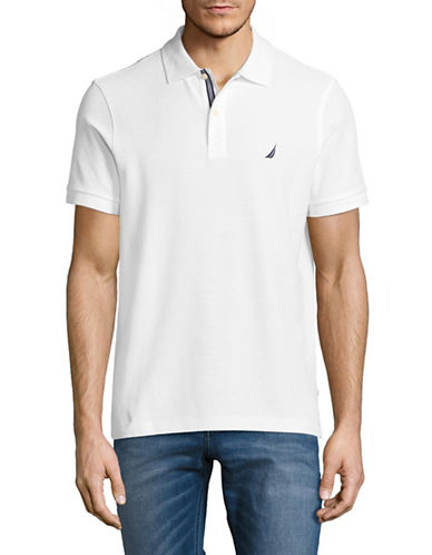 Nautica Slim-Fit Short-Sleeve Polo-WHITE-Small