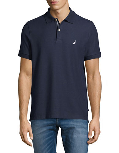 Nautica Slim-Fit Short-Sleeve Polo-NAVY-Small