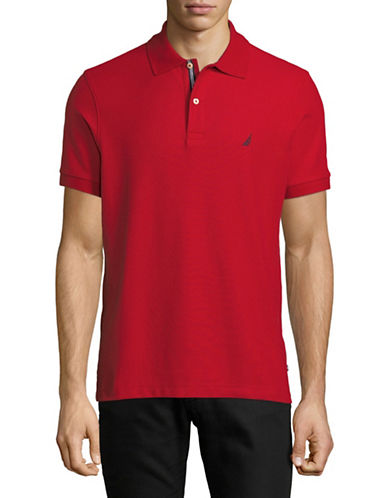 Nautica Slim-Fit Short-Sleeve Polo-RED-X-Large