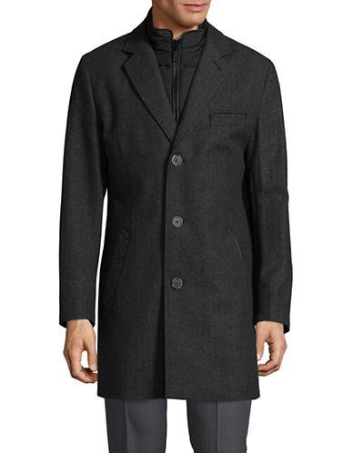 Sondergaard Notch Lapel Wool Coat-GREY-42