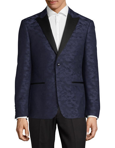 Sondergaard Camouflage Sports Jacket-NAVY-46 Tall