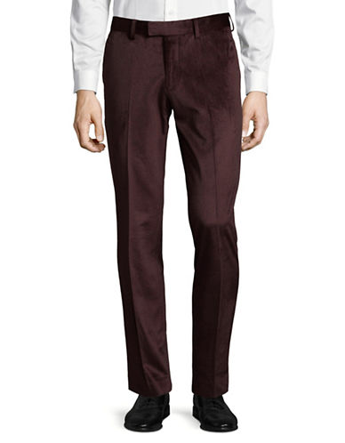 Sondergaard Velvet Dress Pants-RED-32X30