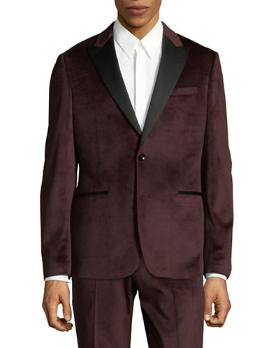 Sondergaard Velvet Suit Jacket-RED-38 Regular