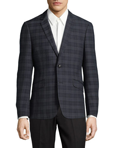 Sondergaard Plaid Suit Jacket-GREY-40 Regular