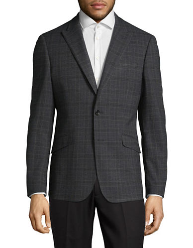 Sondergaard Slim-Fit Dobby Suit Jacket-GREY-46 Tall