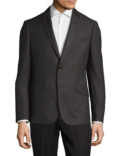 Sondergaard Slim-Fit Dobby Suit Jacket-GREY-46 Regular