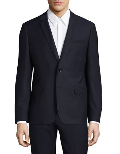 Sondergaard Slim-Fit Dobby Suit Jacket-BLUE-38 Short