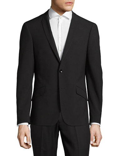 Sondergaard Slim-Fit Dobby Suit Jacket-BLACK-40 Short