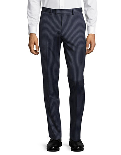 Sondergaard Striped Slim-Fit Pants-BLUE-40X32