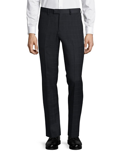Sondergaard Check Slim-Fit Pants-CHARCOAL-32X32