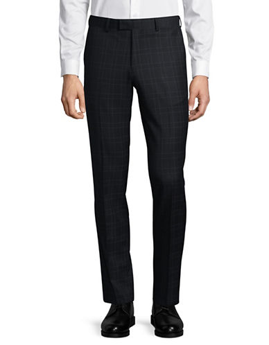 Sondergaard Grid Slim-Fit Pants-BLUE-34X30
