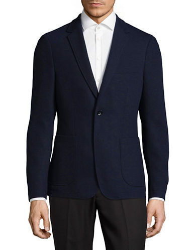 Sondergaard Slim-Fit Stretch Sports Jacket-BLUE-42 Short