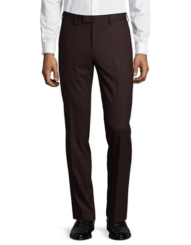 Sondergaard Slim Fit Dress Pants-RED-36X32