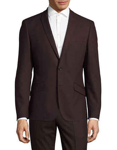 Sondergaard Striped Suit Jacket-RED-44 Regular