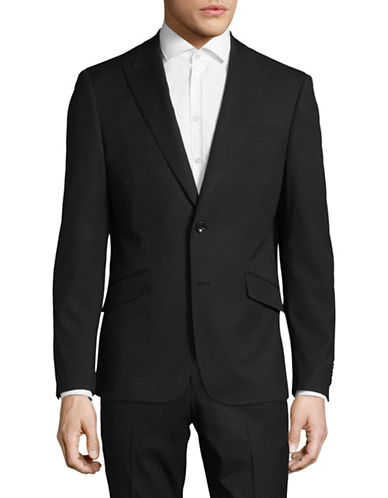Sondergaard Striped Suit Jacket-BLACK-42 Tall