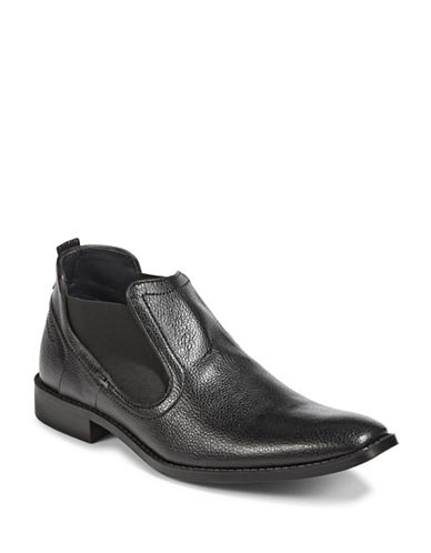 Sondergaard Pebbled Chelsea Boots-BLACK-EU 44/US 11