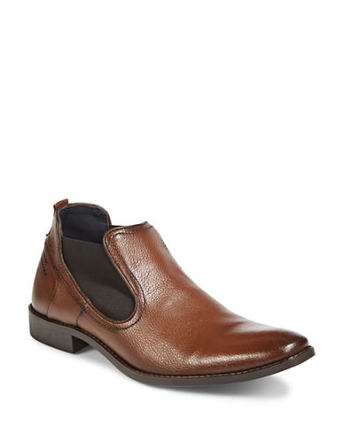 Sondergaard Pebbled Chelsea Boots-BROWN-EU 45/US 12