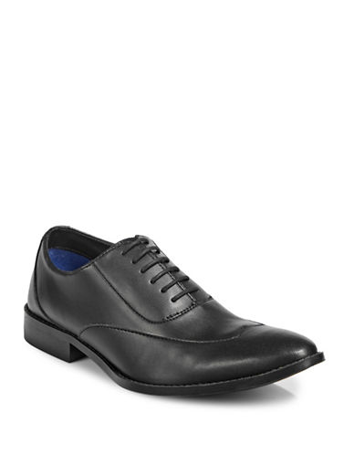 Sondergaard Smooth Wing Dress Shoes-BLACK-EU 45/US 12