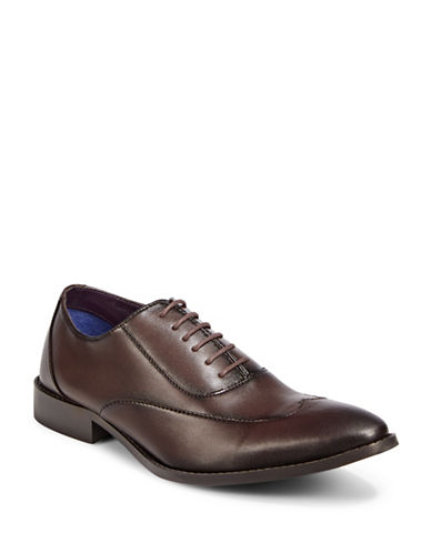 Sondergaard Smooth Wing Dress Shoes-BROWN-EU 45/US 12