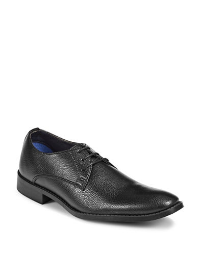 Sondergaard Low-Cut Square Toe Dress Shoes-BLACK-EU 42/US 9
