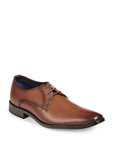 Sondergaard Low-Cut Square Toe Dress Shoes-BROWN-EU 42/US 9