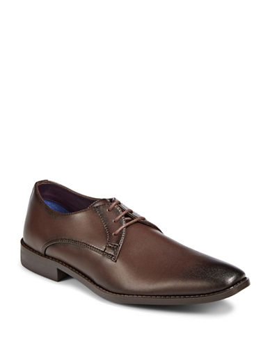Sondergaard Low-Cut Square Toe Dress Shoes-DARK BROWN-EU 46/US 13