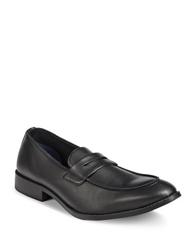 Sondergaard Smooth Leather Loafers-BLACK-EU 42/US 9