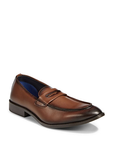 Sondergaard Smooth Leather Loafers-BROWN-EU 44/US 11