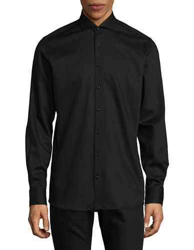 Bruun And Stengade Modern Fit Sport Shirt-BLACK-EU 40/US Medium
