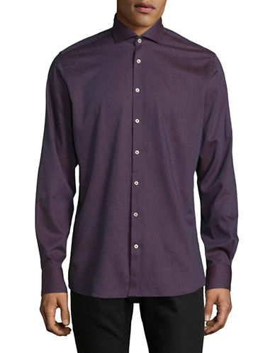 Bruun And Stengade Modern Fit Sport Shirt-RED-EU 38/US Small