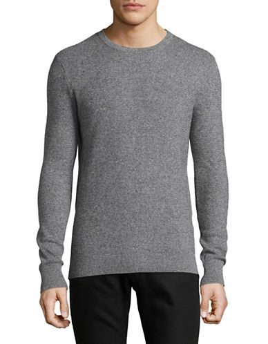 Bruun And Stengade Modena Cotton Crew Sweater-GRAPHITE-Large