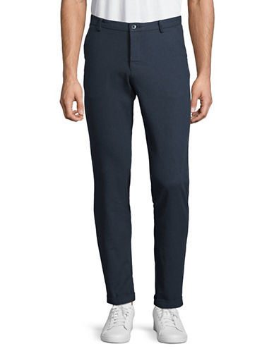 Bruun And Stengade Slim-Fit Cotton Pants-NAVY-36X32