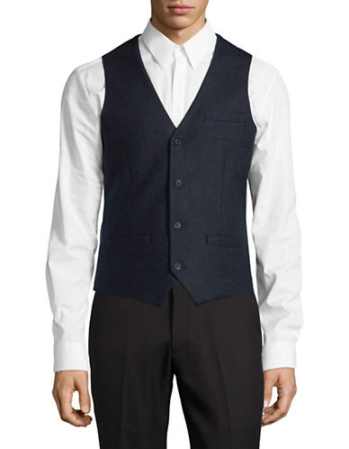 Bruun And Stengade Buttoned Vest-NAVY-EU 48/US 38