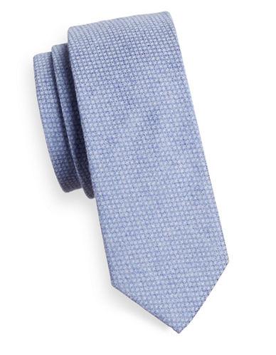 Bruun And Stengade Kruse Cotton Tie-BLUE-One Size