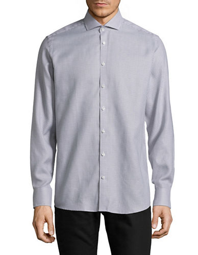 Bruun And Stengade Angel Printed Modern-Fit Cotton Sport Shirt-GREY-EU 38/US Small