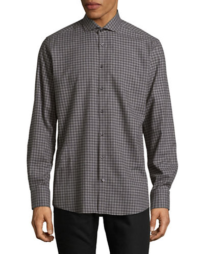 Bruun And Stengade Gauld Cotton Sport Shirt-GREY-EU 38/US Small