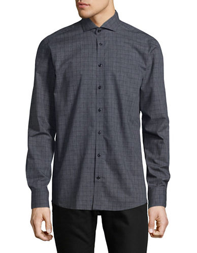 Bruun And Stengade Ernie Slim-Fit Cotton Sport Shirt-DARK GREY-EU 44/US X-Large