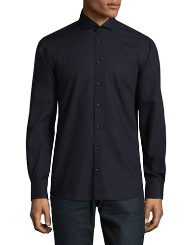 Bruun And Stengade Floyd Slim-Fit Cotton Sport Shirt-BLACK-EU 38/US Small