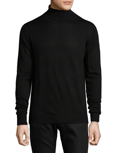 Bruun And Stengade Lightweight Wool-Blend Turtleneck-JET BLACK-X-Large