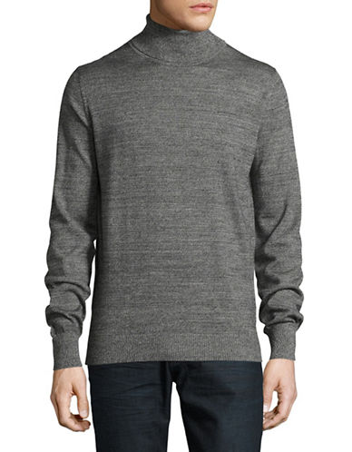 Bruun And Stengade Lightweight Wool-Blend Turtleneck-BLACK-Medium
