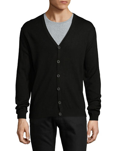 Bruun And Stengade Slim-Fit Long Sleeve Cardigan-BLACK-XX-Large
